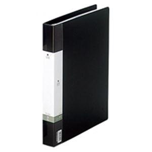 (業務用30セット) LIHITLAB クリアブック/クリアファイル リクエスト 【A4/タテ型】 差し替え式タイプ G3802-24 黒