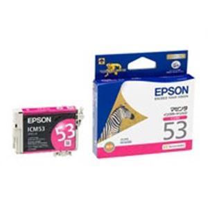 (業務用50セット) EPSON エプソン インクカートリッジ 純正 【ICM53】 マゼンタ