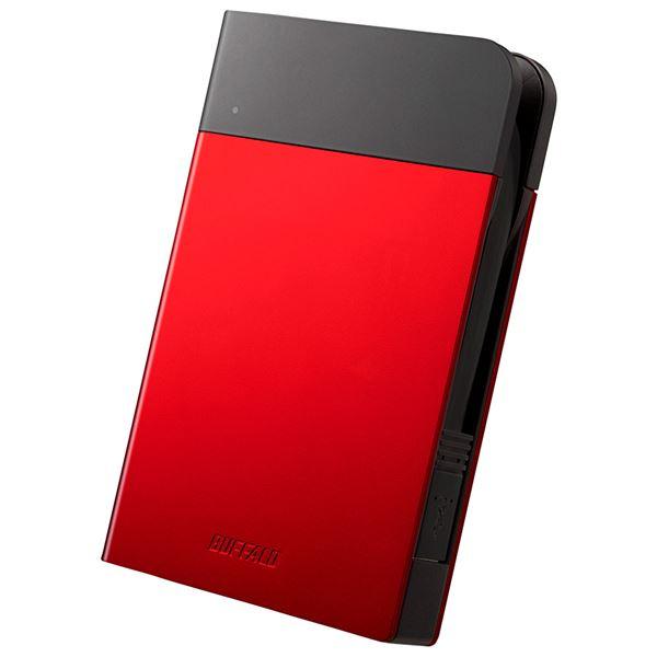 バッファロー ICカード対応MILスペック 耐衝撃ボディー防雨防塵ポータブルHDD 2TB レッド HD-PZN2.0U3-R