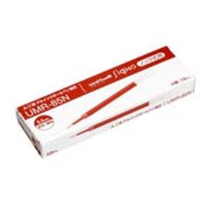 (業務用50セット) 三菱鉛筆 ボールペン替え芯/リフィル 【0.5mm/赤 10本入り】 ゲルインク UMR-85N