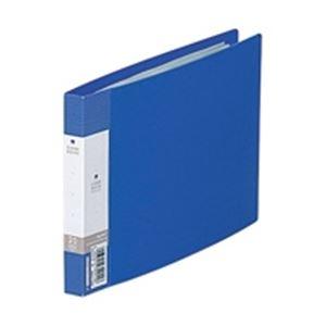 (業務用100セット) LIHITLAB クリアブック/クリアファイル リクエスト 【B6/ヨコ型】 固定式 G3225-8 青