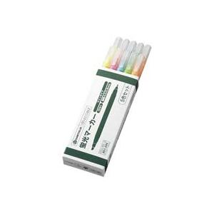 (業務用100セット) ジョインテックス 蛍光ツインマーカー5色入10本 H023J-MIX-10