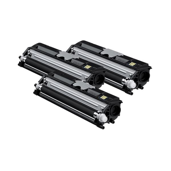 コニカミノルタ大容量 ブラックトナーカートリッジ バリューパック TVP1600K 1箱(3個)