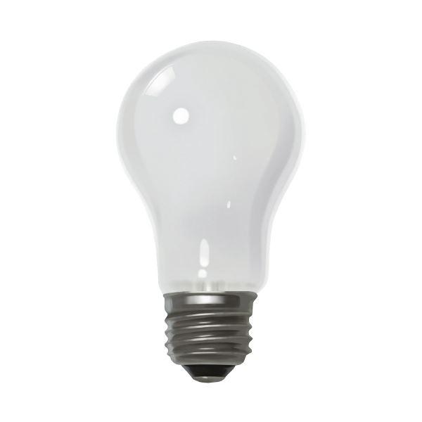 (まとめ)朝日電器 ELPA シリカ電球60形 LW100V57W 白(×100セット)