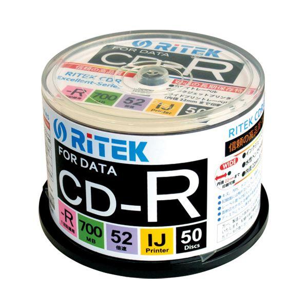 (まとめ)Ri-JAPAN データ用CD-R 50枚 CD-R700EXWP.50RT C【×30セット】