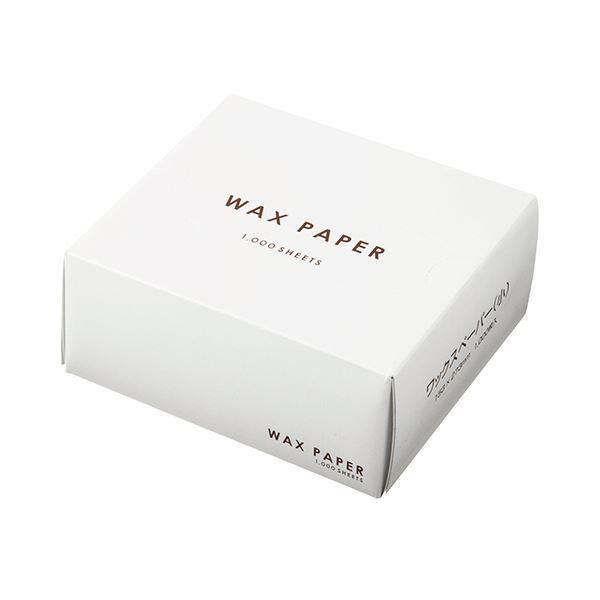 (まとめ)水野産業 ワックスペーパー 小 ホワイト 1箱(1000枚)【×5セット】