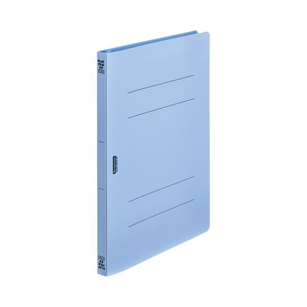 (まとめ)ビュートン フラットファイルPP A4S ブルー FF-A4S-B【×200セット】