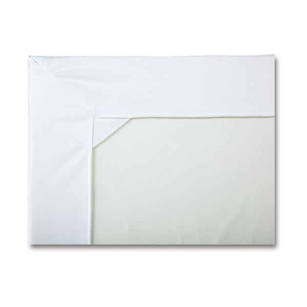 カネモ商事 Lor防水シーツ ボックス型マットカバータイプ ホワイト 1セット(3枚)