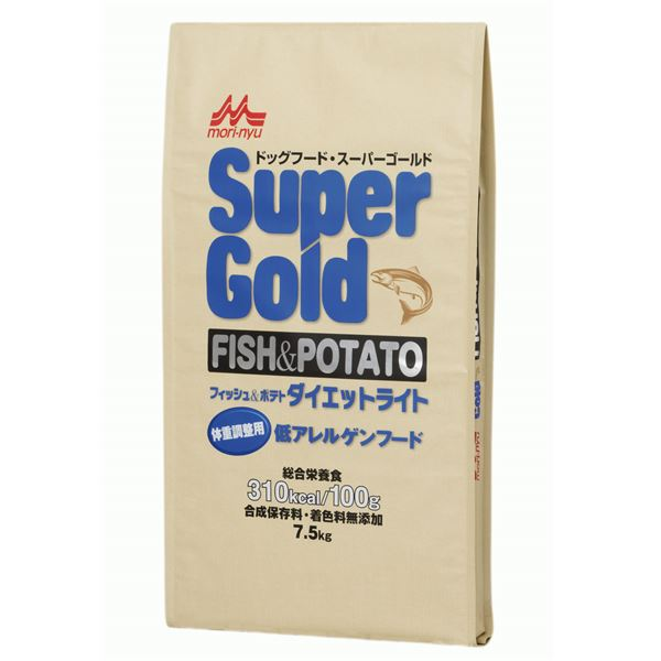 スーパーゴールド フィッシュ&ポテト ダイエットライト 7.5kg【ペット用品・犬用フード】