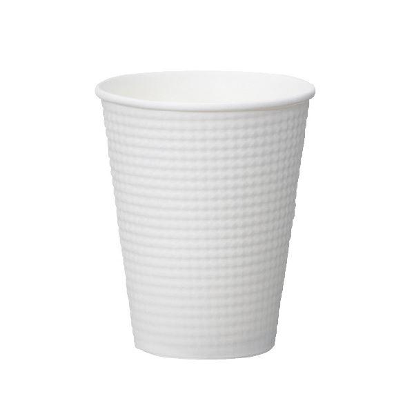 (まとめ)サンナップ エンボスカップホワイト 340mL 25個入【×50セット】