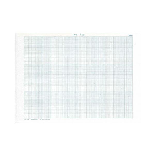 (まとめ)SAKAEテクニカルペーパー 両対数グラフ A4-34両1 50枚入(×50セット)