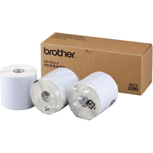 ブラザー工業 TD-4000/4100N用長尺紙テープ 3本パック