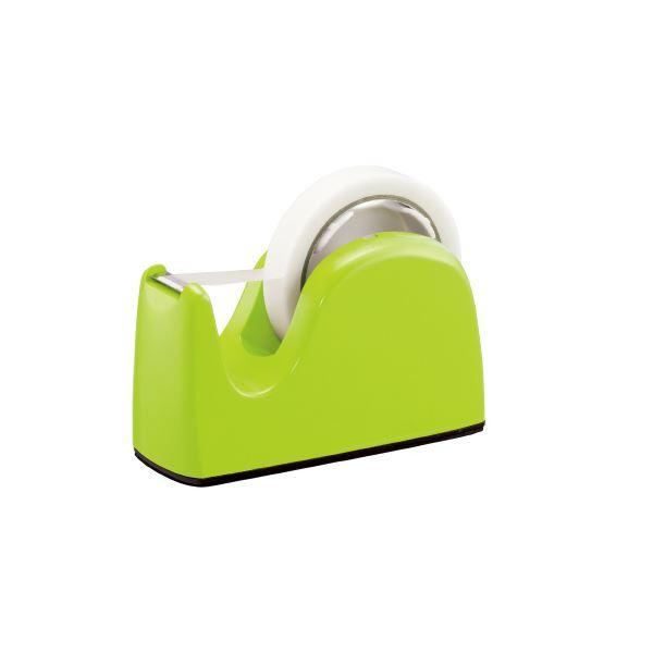 (まとめ)プラス テープカッター TC-301 ライトグリーン 5台【×10セット】