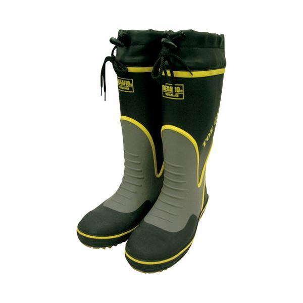(まとめ)ミドリ安全 鋼製先芯入り安全長靴 MPB-7700 XLサイズ【×5セット】