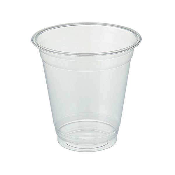 TANOSEE リサイクルPETカップ(広口)370ml(12オンス)1セット(1000個:50個×20パック)