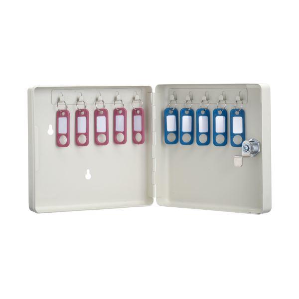 (まとめ)カール事務器 キーボックス コンパクトタイプ CKB-C10-I【×10セット】