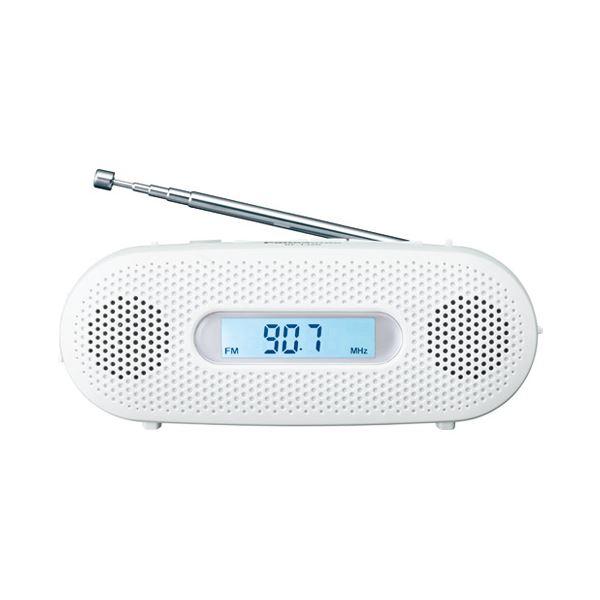 (まとめ)Panasonic FM-AM 2バンドレシーバー RF-TJ20-W【×5セット】