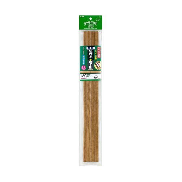 (まとめ)ELPA 足せるモール 壁用ミニ45cm テープ付 木目調ライト PSM-M045P4(LI)1パック(4本)【×10セット】