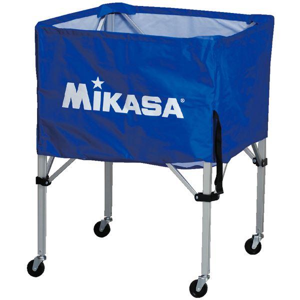 MIKASA(ミカサ)器具 ボールカゴ 箱型・中(フレーム・幕体・キャリーケース3点セット) ブルー 【BCSPS】