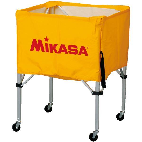 MIKASA(ミカサ)器具 ボールカゴ 箱型・中(フレーム・幕体・キャリーケース3点セット) イエロー 【BCSPS】