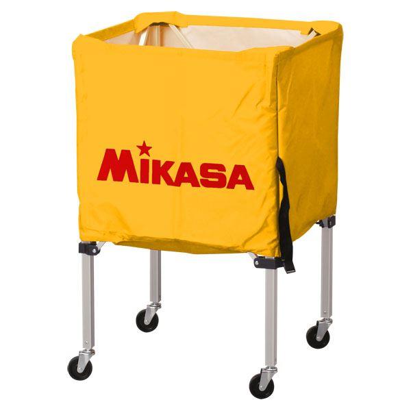 MIKASA(ミカサ)器具 ボールカゴ 箱型・小(フレーム・幕体・キャリーケース3点セット) イエロー 【BCSPSS】