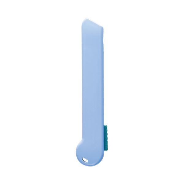 (まとめ)プラス 使い切りカッターリトルテ ブルーCU-006SUS(×100セット)