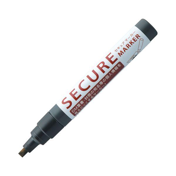 (まとめ) シヤチハタ 油性マーカーセキュアマーカー 角芯 黒 KSC-4B/H 1本 【×30セット】