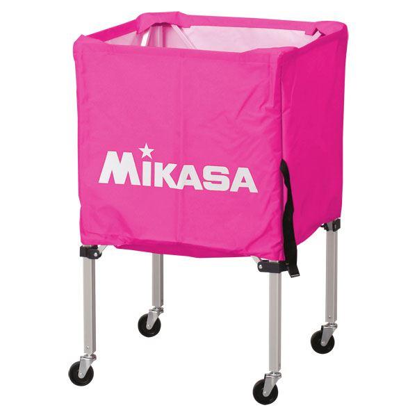 MIKASA(ミカサ)器具 ボールカゴ 箱型・小(フレーム・幕体・キャリーケース3点セット) ピンク 【BCSPSS】