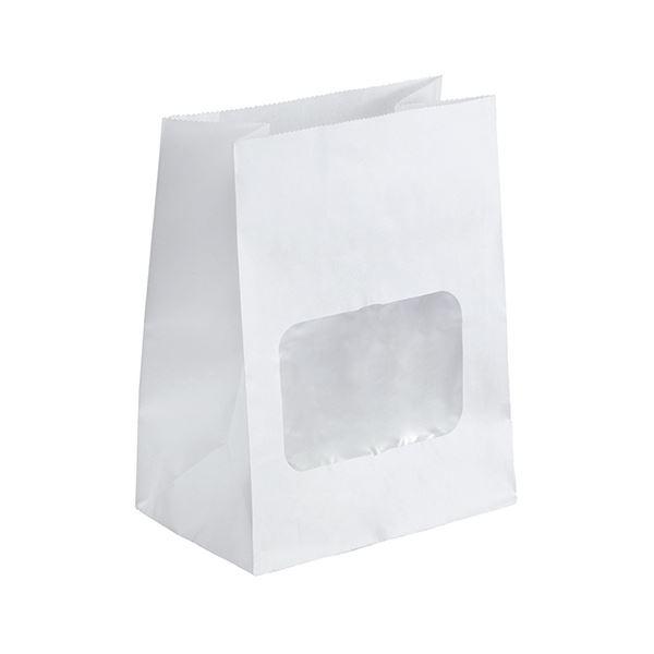 (まとめ)水野産業 ルックバッグ4S 白 1パック(100枚)【×10セット】