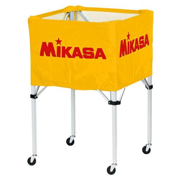 MIKASA(ミカサ)器具 ボールカゴ 箱型・大(フレーム・幕体・キャリーケース3点セット) イエロー 【BCSPH】
