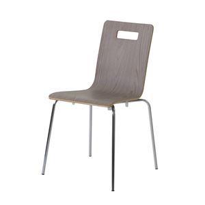 ダイニングチェア/食卓椅子 【4脚セット ライトブラウン】 幅49×奥行50×高さ81.5cm スチール 『ヴァーゴチェア』 〔リビング〕