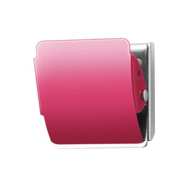 (まとめ)プラス マグネットクリップCP-040MCR M ピンク10個【×5セット】