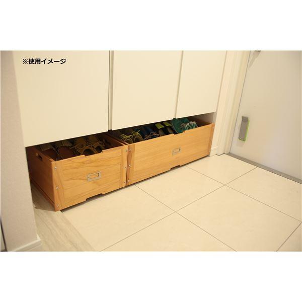 下駄箱の下のスペースを有効活用できる収納ボックス 返品不可 玄関収納 下駄箱下収納ボックス 幅36cm 超激得SALE ライトブラウン