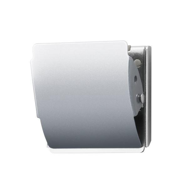 (まとめ)プラス マグネットクリップCP-040MCR M 銀 10個【×5セット】
