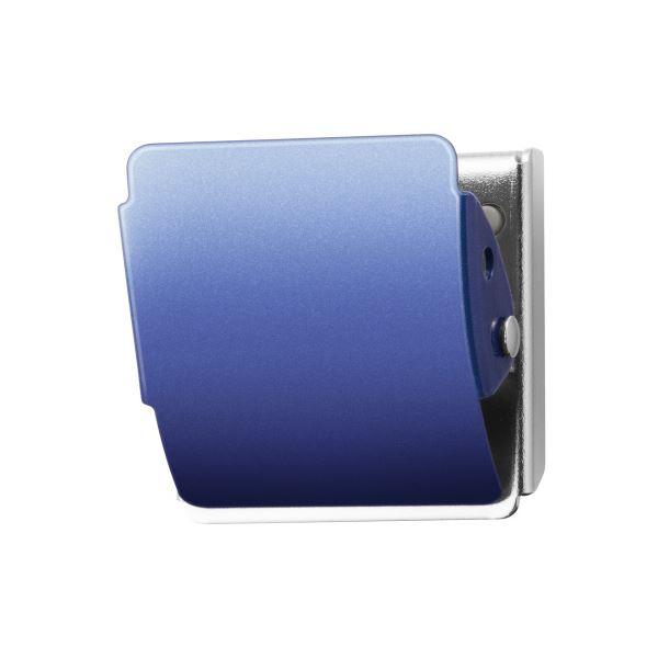 (まとめ)プラス マグネットクリップCP-040MCR M ブルー10個【×5セット】