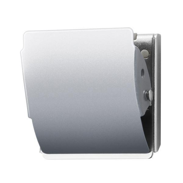 (まとめ)プラス マグネットクリップCP-047MCR L 銀 10個【×5セット】