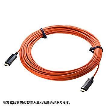 サンワサプライ HDMI2.0 光ファイバケーブル 15m KM-HD20-PFB15(KM-HD20-PFB15)