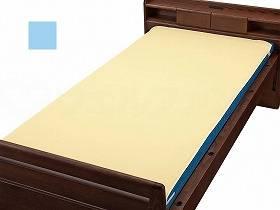 ウェルファン ベッドパッド型防水シーツサックスS