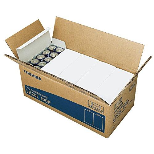 東芝 アルカリ乾電池 単1形(LR20L 100P)