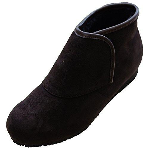 ウェルファン 防寒ブーツ リシェス 防滑ソール 婦人用 ブラウン L