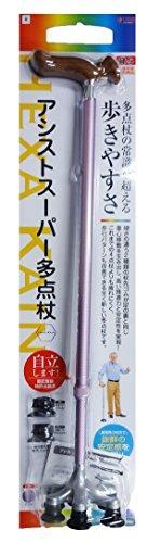 アシスト.JP アシストスーパー多点杖 ピンク色