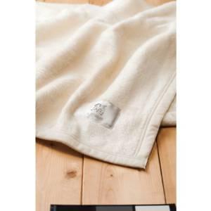 ベッド&バス 皇室献上メーカーが作ったシルク毛布(毛羽部分)桐箱入   SL-300