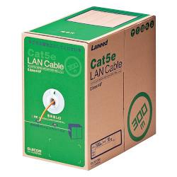 エレコム RoHS対応LANケーブル/CAT5E/300m/オレンジ/簡易パッケージ(LD-CT2/DR300/RS)