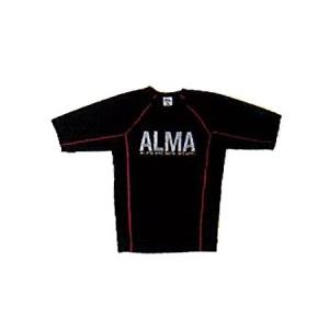 マーシャルワールドジャパン ALR5-L-PK BONE(ALMAラッシュガード) L 黒×ピンク