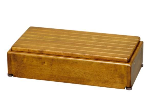 アロン化成 木製玄関台 高さ調節タイプ S60W-30-1段 / 535-576 ライトブラウン