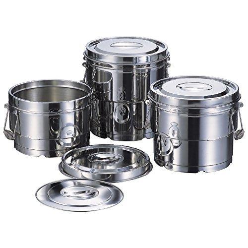 エムテートリマツ 18-8K段付二重汁食缶クリップ無14L
