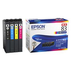 EPSON インクカートリッジ(4色パック/標準)(IC4CL83)