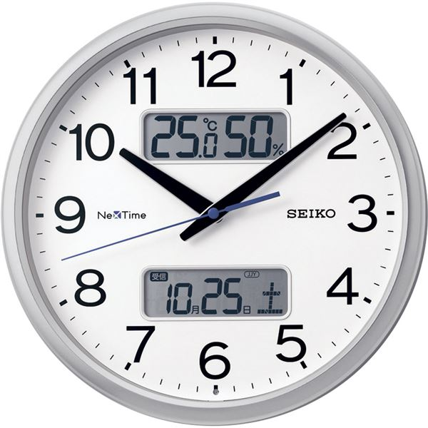 セイコー ネクスタイム ハイブリッド電波掛時計 ZS251S