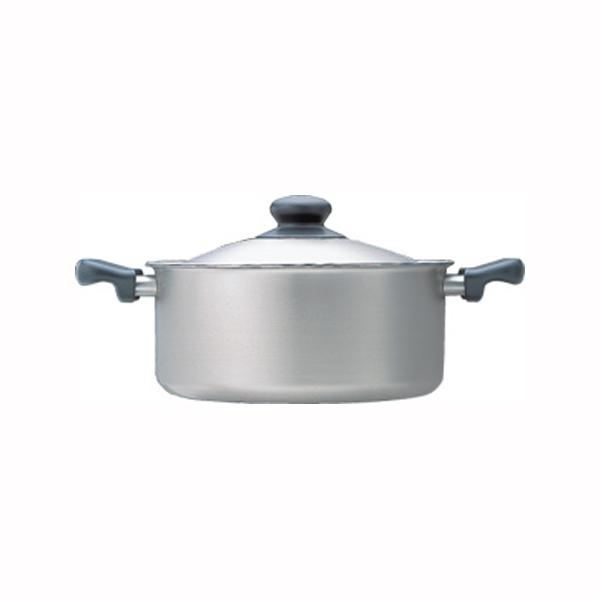 柳宗理 ステンレス・アルミ三層鋼両手浅型鍋22cm つや消し