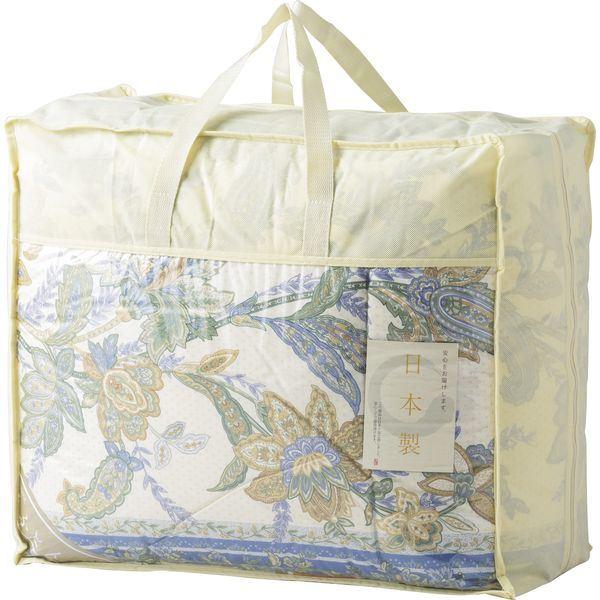 日本製 羽毛布団バッグ入り NUF-2750 ブルー